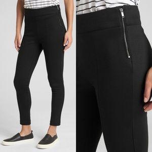 GAP Black Side Zip Ponte Leggings